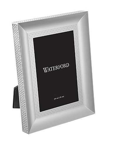 Waterford Lismore Diamond Silver 5x7 Picture - Diamond Plate Picture Frame