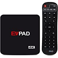EVPAD IPTV Android TV Box 8 Core H.265 4K Satellite TV UBox Unlocked Oversea Version with 1500+ Global Live Channels With Chinese HK Korea Taiwan Japanese Asian TV Channels
