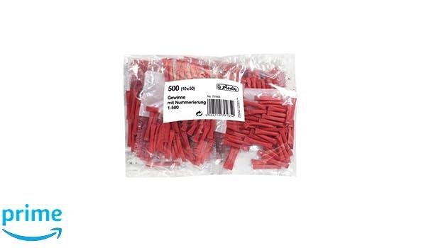 s 500 pieza , Bolsa de pl/ástico Rojo 500 pieza s Herlitz 791855 rollo de ticket 500 pieza - Boletos//rollos tickets s