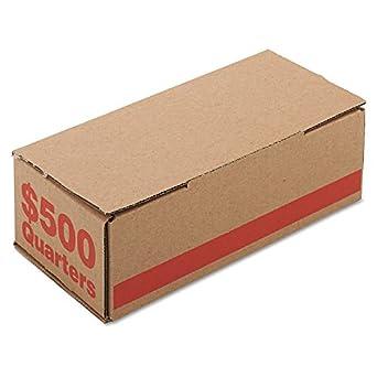 PMC61025 - Caja de cartón corrugado para guardar monedas con diseño de Denominación en el lateral, color