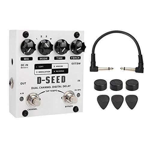 Guitar Effect Pedal, RiToEasysports JOYO D-SEED Dual Channel Digital Delay Electric Guitar Effect Pedal 4 Modes 17ms-1000ms