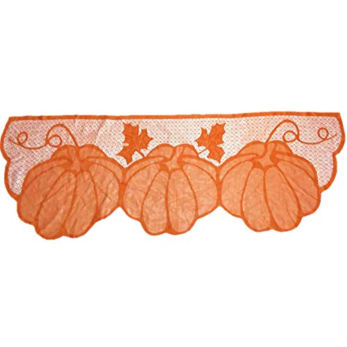 discountstore145 Thanksgiving Fireplace Cloth,Classic Thanksgiving Style Pumpkin Maple Leaf Fireplace Lace Cover Cloth Fall Easter Decor Home Decor for Autumn Theme Room Decorations (Sale Easter)