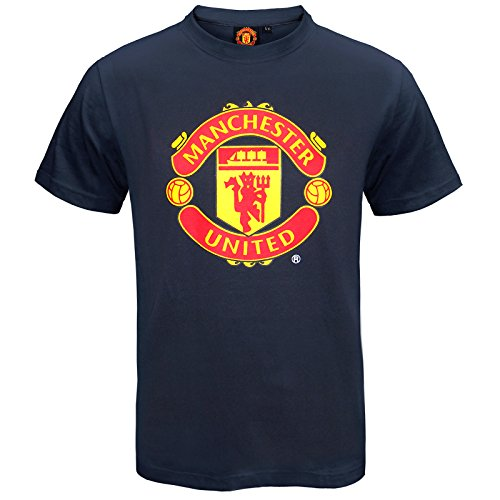 Manchester United Football Club Official Soccer Gift Kids T-Shirt Navy 10-11 Yrs