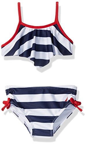 Nautica Stripe Flounce Contrast Binding