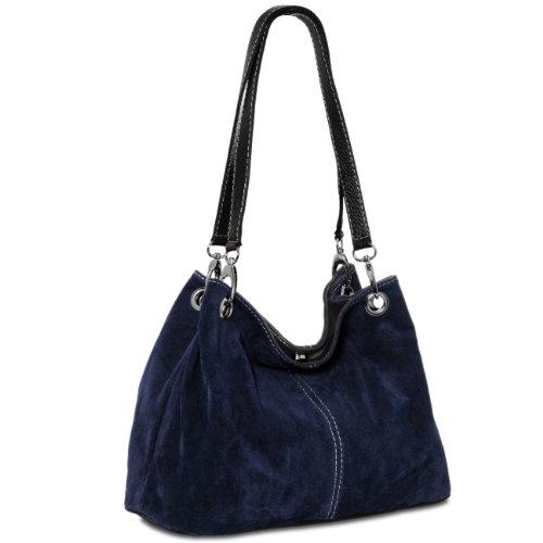 CASPAR Fashion - Bolso al hombro para mujer azul oscuro