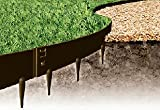 Kinsman 39 x 5 in. Everedge Lawn Edging44; Black - Pack of 5