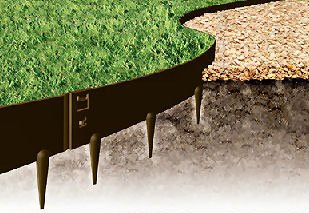 Kinsman 39 x 5 in. Everedge Lawn Edging44; Black - Pack of 5 by Kinsman
