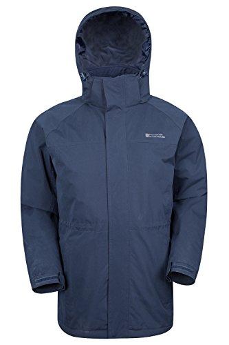 Mens dobladillo Mens ajustable Chaqueta capa Azul longitud Westport bolsillos una la Warehouse hidrófuga de de Marino larga del larga capa Mountain invierno más wHZqIRE