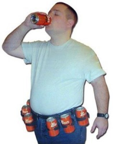 Six Pack Adjustable Beer Soda Pop Cans Bottles Costume Belt