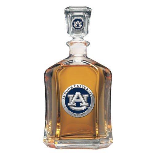 Team Color Logo Auburn Tigers Decanter Glass Bottle