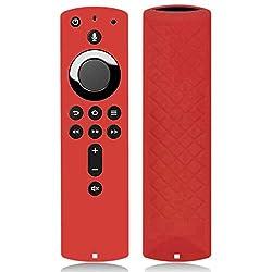 Afazfa for Amazon Fire TV Stick 4K TV Stick Remote Silicone Case Protective Cover (Red)