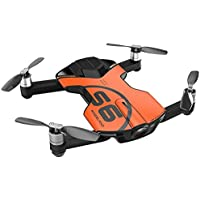 Wingsland S6 Outdoor Edition Ultra-compact Pocket Size Premium RC Quadcopter FPV Drone with 4K HD Camera - App Control - Auto Return - Black Orange