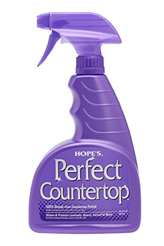 Hope's Perfect Countertop Cleaner and Polish, 22-Ounce, Streak-Free, Multi-Surface cleaning spray, Safe on stone sealant, laminate, CORIAN, granite, quartz, marble, stone, and more