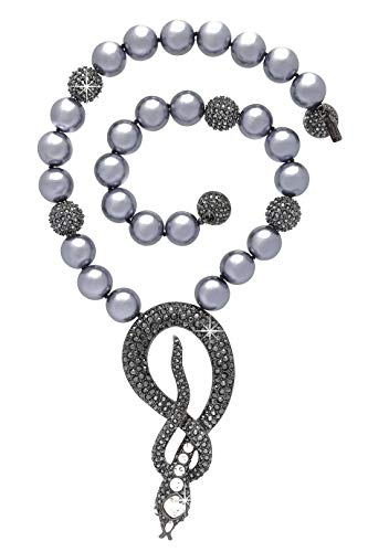 Kenneth Jay Lane Gray Pearl Cobra Necklace