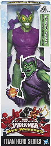 Goblin Weapons Green - Spider-Man Marvel Ultimate Titan Hero Series Green Goblin Figure, 12