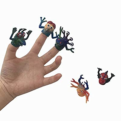 5pcs TPR Hand Puppets Funny Animal Monster Finger Children Boy Girl Toys: Computers & Accessories