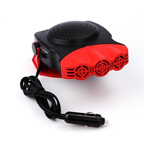 Car Heater Portable Defrost Fast Heating Defogger 150W 12V 3 Outlets Automobile Ceramic Warm Wind Fan