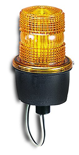 Federal Signal LP3M-012-048A Streamline Low Profile Strobe Light, Male Pipe Mount, 12-48 VDC, Amber