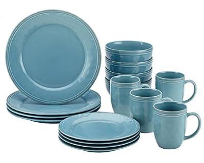 Rachael Ray 55093 Cucina 16-Piece Stoneware Dinnerware Set