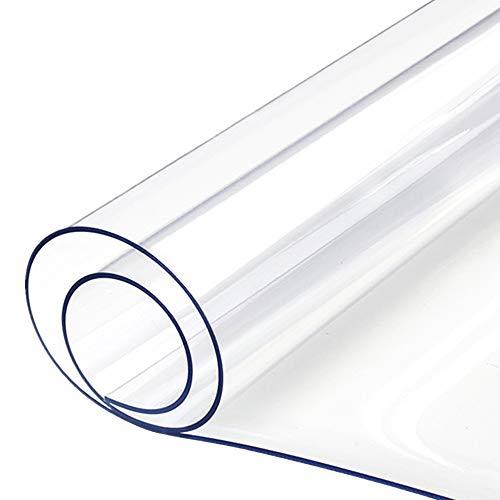 Yizunnu - Mantel de PVC transparente, 1,5 mm, impermeable, suave cristal transparente, transparente, 70 x 120 cm