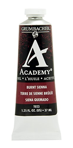 Grumbacher Academy Oil Paint, 37 ml/1.25 oz, Burnt (Academy Oil Color Paint)