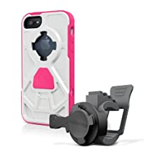 Rokform Stroller Mount with Protective Case for Apple iPhone 5/5S (Pink/White)
