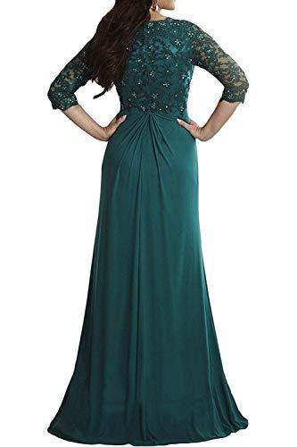 4 mia 3 Festlichkleider Kleider Sommer Brautmutterkleider La Schwarz Langarm Chiffon Partykleider Abendkleider Braut Spitze Etuikleider tgq1wR