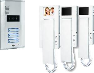 Elro VD63 3-Familien-Videotürsprechanlage mit 2.4 Zoll (5.5 cm) TFT...