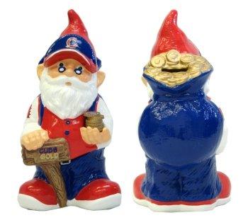 Forever Collectibles Chicago Cubs Garden Gnome Coin Bank