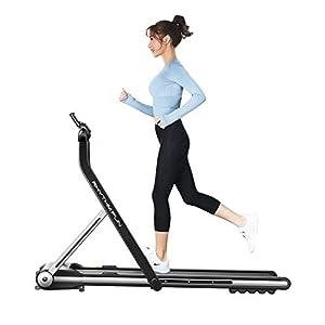 RHYTHM FUN Treadmill Folding Running Treadmill Under Desk Walking Pad Treadmill with Foldable Handtrail Wide Tread Belt…