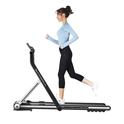 RHYTHM FUN Treadmill Folding Running Treadmill Under Desk Walking Pad Treadmill with Foldable Handtrail Wide Tread Belt…