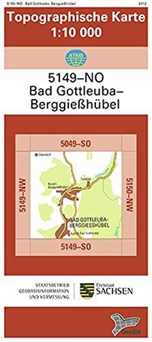 Bad Gottleuba Berggiesshubel 5149 No Topographische Karte 1 10