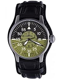 Fortis Men's 595.11.16 L.01 Flieger Cockpit Olive Self-Wind Black Stainless Steel Watch by Fortis