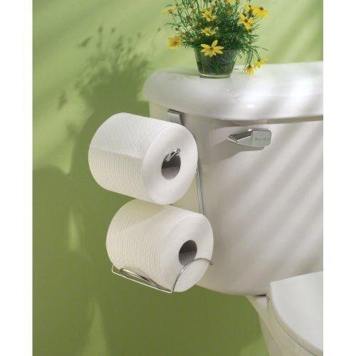 Moon Daughter Tissue Holder Toilet Paper Storage Organizer Bathroom Rack Chrome Hanging Over - Toilet Roll Moon Holder