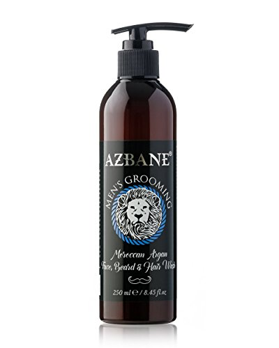 Azbane Moroccan Argan Face Beard & Hair Wash 250 Ml - 8.45 Fl.oz