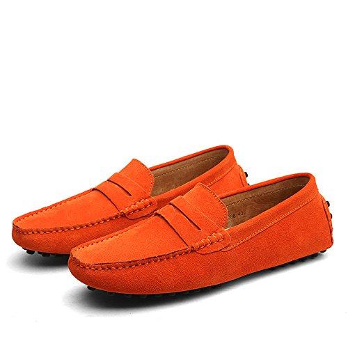 Mocasines Caucho AARDIMI de Hombre Pantuflas Naranja y wRRA4