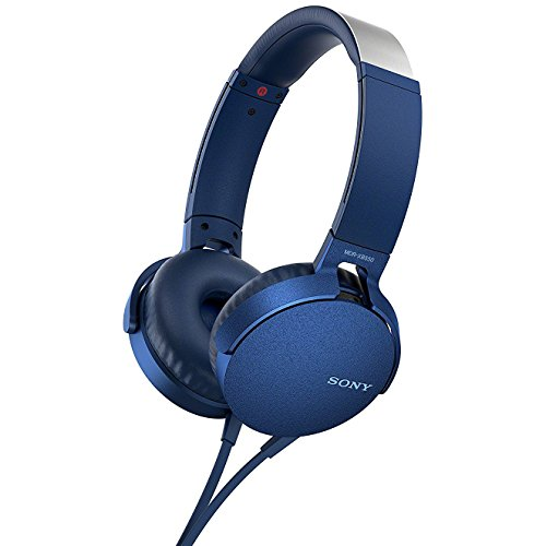(Sony XB550AP Extra Bass On-Ear Headphone, Blue (2017 model))