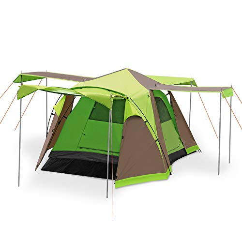 Skylink 3 Season Tent 4 Person Hiking Tent with Carry Bag, Waterproof Tent for Family Camping