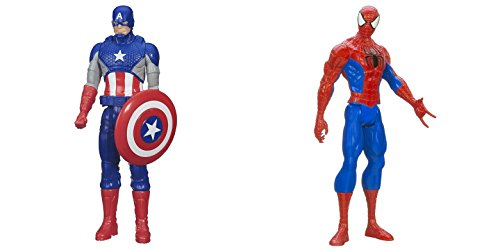 [Super Hero Captain America vs Spider-Man 12 inch Titan Hero Series Action Figures Toys] (He Man Childrens Costume)