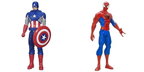 [Super Hero Captain America vs Spider-Man 12 inch Titan Hero Series Action Figures Toys] (He Man Childrens Costume)