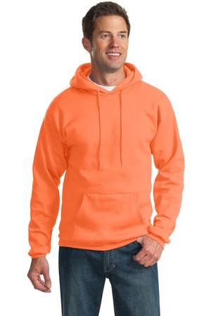 Price comparison product image Port & Company Men's Classic Pullover Hooded Sweatshirt 3XL Neon Orange