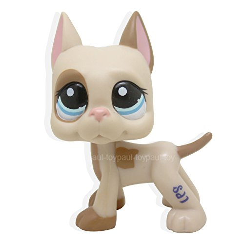 [#1647 Littlest Pet Shop LPS Great Dane Dog Puppy Pink Ear Brown Patches Spotted] (Make Lion Costume For Dogs)