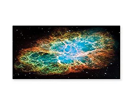 Amazon.com: Ambesonne Outer Space Wall Art, Image of Crab Nebula in ...