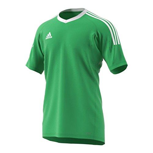 adidas Revigo 17 Mens Short Sleeve Goalkeeper Soccer Jersey YM Energy Green-White (Short Sleeve Goalie Jersey)