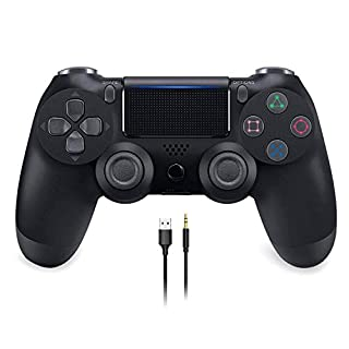 Wireless Gaming Controller for PS4, YCCSKY Wireless Gamepad with Touch Panel Share Button Audio Function LED Indicator and USB Cable, for Playstation 4/Slim/Pro (Black)