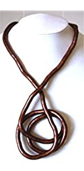 Bendable Necklace By Snake Twist Copper Medium 6mm