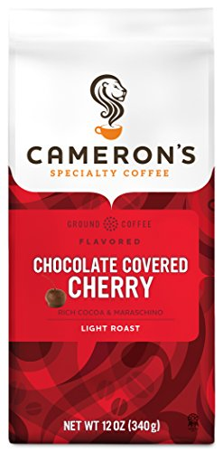 Cherry Coffee - Cameron's Coffee Roasted Ground Coffee Bag, Flavored, Chocolate Covered Cherry, 12 Ounce