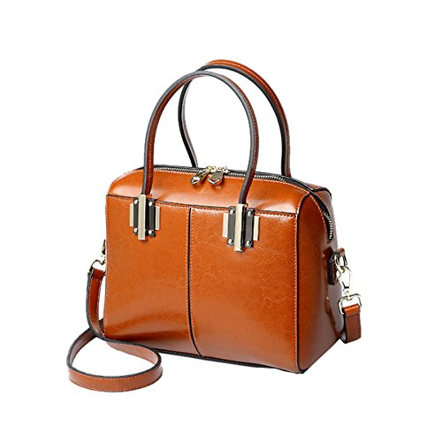 Women Shoulder Q0864 Fashion Handbag Leather Casual Bag Dissa Brown ZPqBpxwR