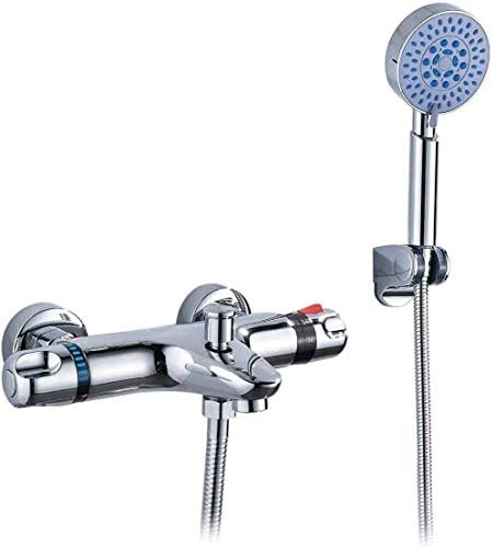 シャワーシステム シャワーセットシャワーシステムクラシック浴室のシャワーの蛇口バスタブの蛇口ミキサータップ付きハンドシャワーヘッドセットの壁には、サーモスタットが混合弁マウント レインシャワーシステム