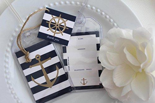 Janine Lea Swan designs 40 Nautical Luggage Tag Favors 1.25 ea.]()